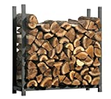 ShelterLogic Kaminholzregal, Kaminholzständer, Holzregal Premium 120cm//Brennholzregal für Feuerholz mit hoher Traglast
