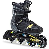 K2 Herren Fitness Inline Skates VO2 100 X Pro - Schwarz-Grau-Gelb - 30C0020.1.1