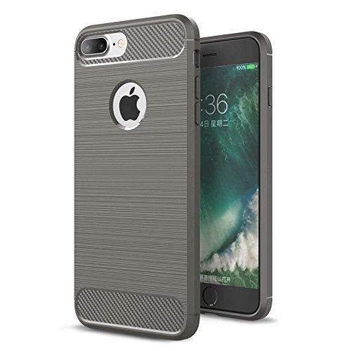 """AOFad Gris Coque Pour iPhone 7 Plus,[5.5""""], Confortable Tréfilage, Protection des lourds TPU TPU Armure Série TF064 TF064+Grey"""