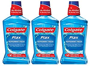 Colgate Plax Mouthwash - 250 ml (Pepper Mint, Buy 2 Get 1 Free)