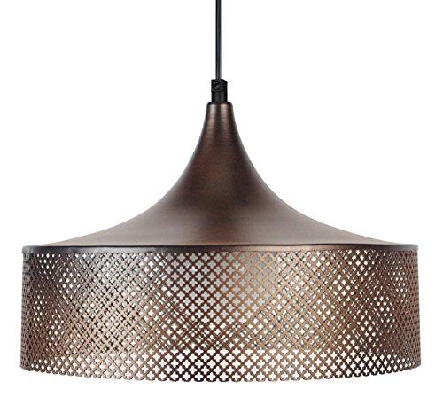 tosel-15551-svedese-guaina-lampada-a-sospensione-in-lamiera-di-acciaio-perforata-pittura-in-bronzo-e