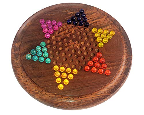 Artisans World Chinese Checkers board set with Marbles (Checkers Board Spiel)