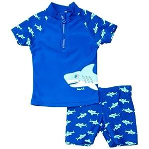 Playshoes UV-Schutz Bade-Set Hai Completo, Blu (Blau (Original), 98/104 Bambino