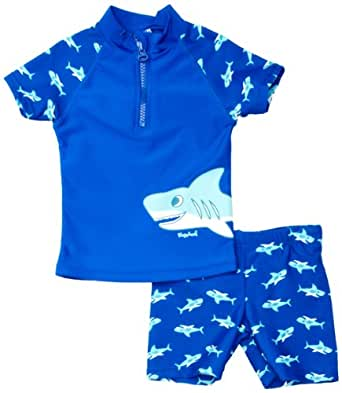 Playshoes Sun Protection 2 Piece Shark Boy's Swim Shorts Original - Blue  1-2 Years