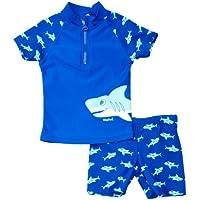 Playshoes 2-teiliger Kinder Schwimmanzug mit UV Schutz Gr. 74/80 Jungen Baby Junge blau, Größe: 74/80