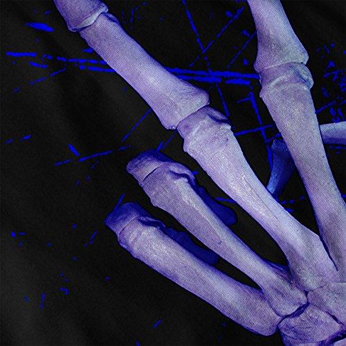 Squelette Paix Cool Drôle Femme S-2XL Sweat à capuche   Wellcoda Noir