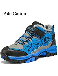 Licy Life-UK Unisex Zapatos Zapatillas Botas de Senderismo Trekking Explore Deportiva Cálido Algodón Waterproof Antideslizante para Niños^Niñas