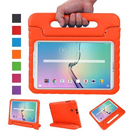 NEWSTYLE Samsung Galaxy Tab E 9.6 Zoll Hülle Eva Stoßfeste Schutzhülle Tragbar für Kinder mit Ständer Schutzhülle Standfunktion für Samsung Tab E SM-T560/SM-T561 9.6 Zoll Tablet,- Orange