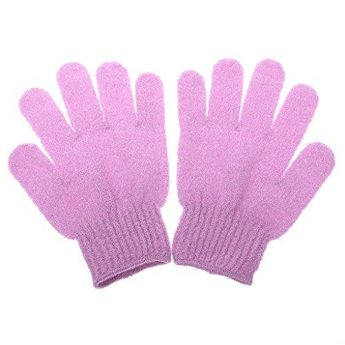 1 Paar Peeling Badhandschuh Dusche Hautpflege Wäscher Massage Sauber Handschuh Peelinghandschuh - Rosa