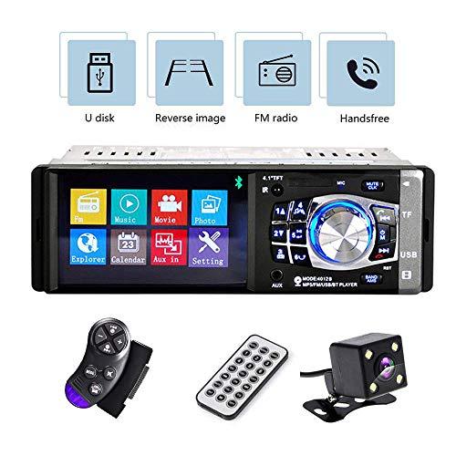 Camecho Autoradio 1 Din Lecteur MP3 à écran de 4.1 pouces Lecteur MP5 Lecteur multimédia Lecteur MP3 Lecteur audio FM Lecteur MP3 Bluetooth Bluetooth + Caméra