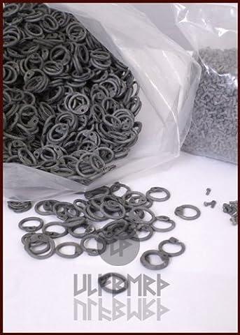 1 Kg pour rivets ronds anneaux pour kettenhemd kettenhaube ou en aluminium gris