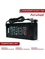 AIRWHEEL batería Cargador de 67.2V 1.75A Cargador de batería para Scooter Eléctrico Patinete S y todos los 67.2V de ion de litio recargables