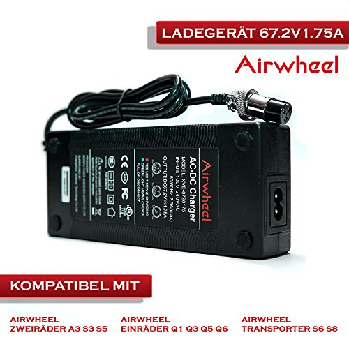 Airwheel batteria del caricatore 67.2V 1.75a caricatore di batteria per motorino e scooter elettrico e alle 67.2V agli ioni di litio