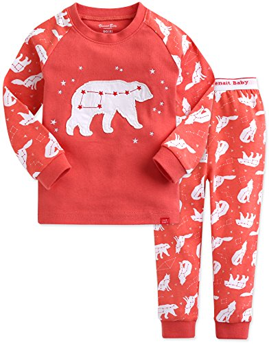 Vaenait baby 1-7 Years Girls Easter Gifts 100% Cotton Pyjama Sleepwear Set Rabbit