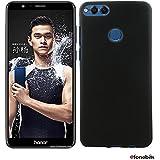 Matte Finish Soft Back Case Cover For Huawei Honor 9 Lite (MATTE BLACK)