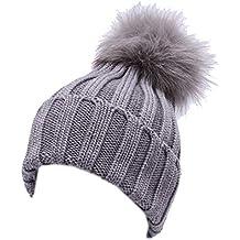 Inventive 4900y Cuffia Bimba Girl Catya Light Grey Wool Real Fur Hat Boys' Accessories Hats