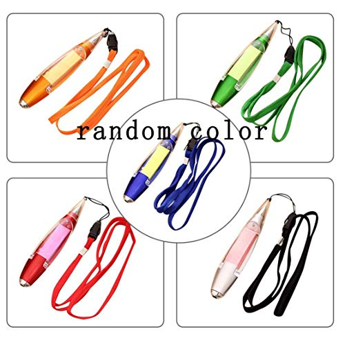 Novelty Stationery Ballpoint Pen LED Lights Lanyard Paper Notes School Supplies Office Supplies Ideal Present for Kids