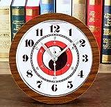 Axiba Kaminuhren Klassischen Taiji Bagua Pfirsich Holz Uhr kreative Schlafzimmer Studie Tischuhr Uhr 12 * 12cm-Hausdekorationen