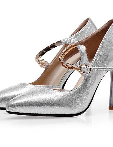 WSS 2016 Chaussures Femme-Mariage / Habillé / Soirée & Evénement-Rouge / Argent / Or-Talon Aiguille-Talons / A Plateau / Escarpin Basique / Bout golden-us5 / eu35 / uk3 / cn34