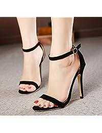 LEI&LI Zapatos de mujer tacon tacones / Peep Toe / plataforma sandalias / zapatos de tacón de fiesta & noche vestido , gold , 40
