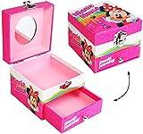 Unbekannt Schmuckkasten - mit Schubladen + Spiegel -  Disney - Minnie Mouse  - Utensilo - Kinderzimmer - z.B. für Schmuck - Schmuckschatulle / Dose - Schmuckbox Schmu..