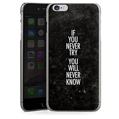 Apple iPhone X Silikon Hülle Case Schutzhülle Sprüche Motivation Fitness Hard Case anthrazit-klar