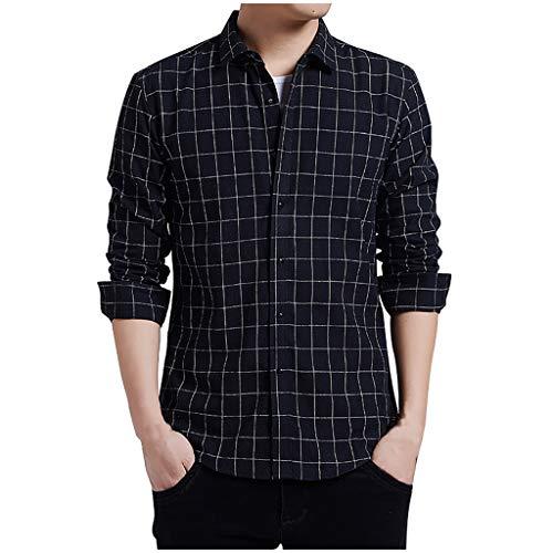 Setsail Die Neue beiläufige Art und Weise der Herren streifte lose Revers-langes Hülsen-Hemd übersteigt Bluse -
