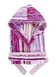 Stilia. Accappatoio da bagno unisex in cotone 100% con cappuccio, tasche e cintura. Shirali Talla/Size L (Large) fucsia