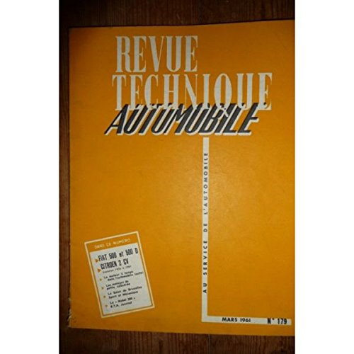 Rta-revue Techniques Automobiles - 500 500d Revue Technique Fiat Etat - Bon Etat