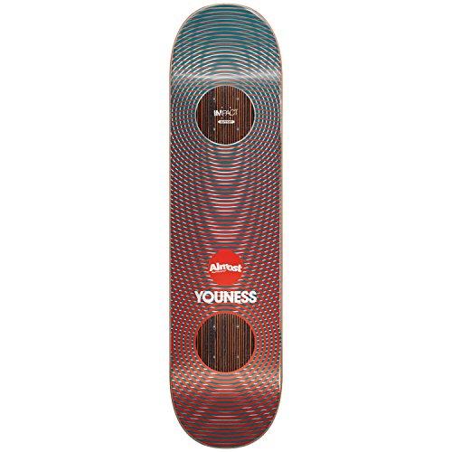 Almost Fast Metallic Vibes Impact Deck, Youness amrani, Größe 8.0 (Fast-skate-decks)