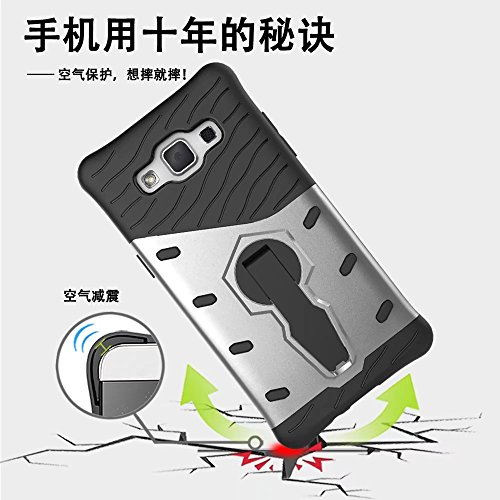 YHUISEN Hybrid Tough Rugged Dual Layer Rüstung Schild Schützende Shockproof mit 360 Grad Einstellung Kickstand Case Cover für Samsung Galaxy A5 2015 ( Color : Blue ) Red