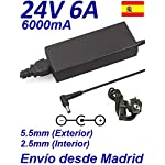 Cargador Corriente 24V 6A 6000mA 5.5mm 2.5mm 144W TELEVISOR LCD PLASMA FLAT TV