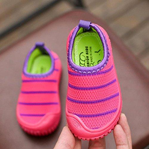 Preisvergleich Produktbild cinnamou Canvas Sneakers für Baby Jungen Mädchen - Kinder Gestreifte Mesh ausgehöhlt Laufschuhe Sandalen Loafers Turnschuhe - Causual Flat Sports Laufschuhe