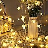 LED Stelle USB LED Luce catene Fairy String luci per Indoor & Outdoor Giardino, Natale, matrimonio decorazione, bianco caldo, 6M/19.6FT