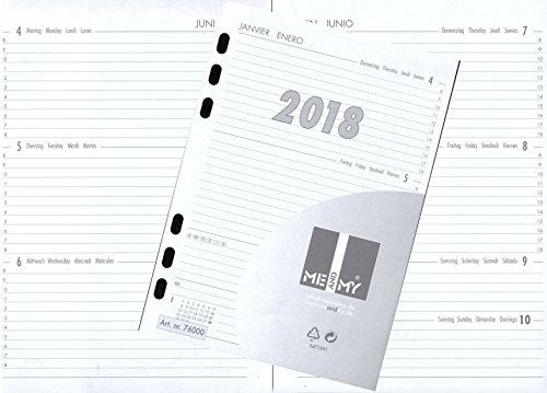 Kalendereinlage Kalender 2018 A5 für Timer Terminer Zeitplaner 1 Woche=2 Seiten   76000