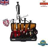 Great Highland Bagpipe palissandro in argento, supporti con cornamusa tutor libro e accessori/scozzese cornamusa