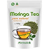 Moringa Tee 100/250/500g Kräuter Mix geschnitten - 1A Geschmack, beste Qualität von MoriVeda (1x100g)