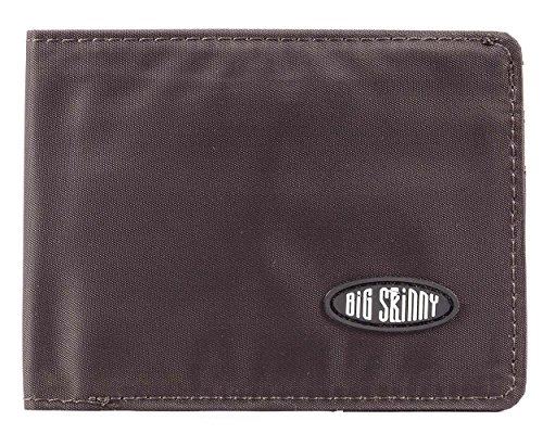 Big Skinny l-fold Passcase Slim Wallet, hält bis zu 30Karten, Braun