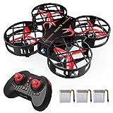 SNAPTAIN H823H Plus Mini Drone Hélicoptère 21 Mins Autonomie, avec 3 Batteries et Télécommande, Mode sans Tête, 360°Flips, Maintien de l'altitude et Un Bouton pour Retour/Décollage/Atterrissage