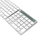 Cateck Combo 2-in-1 Magic Keypad & Calcolatrice Wireless Bluetooth 28 Tasti per Macs, PCs, due Batterie in Litio Ricaricabili integrate immagine