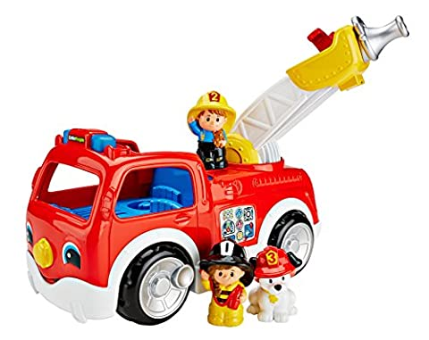 Fisher-Price Little People Toy - Lift 'n Lower Fire Truck - Electronic Learning Rescue Vehicle
