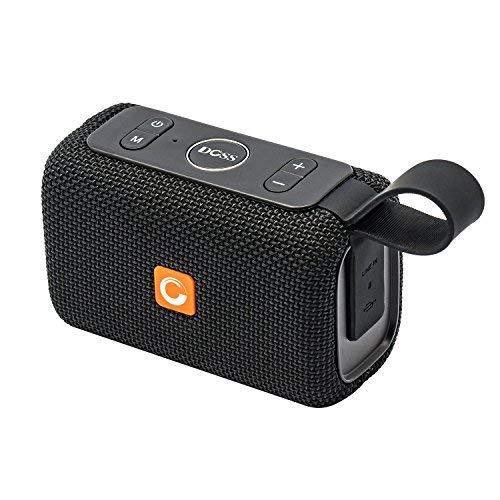 DOSS Mini Enceinte Bluetooth Portable,Waterproof Haut-Parleur sans Fil,Basses Puissantes, Étanche pour Piscine & Plage IPX6, Noir