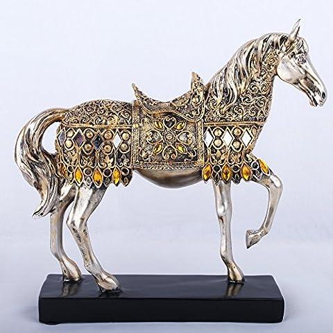 QNQA métiers d'ameublement de maison de décoration des ornements décoration la décoration de décoration créative d'ameublement de maison ancienne novateurs de cheval