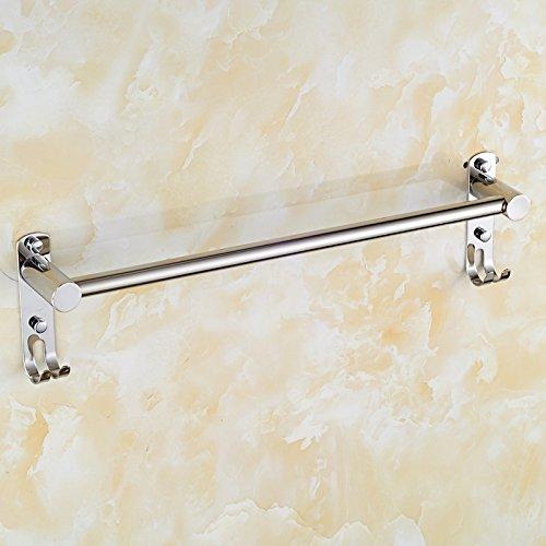 LHbox Tap Acero Inoxidable 304 extendido de Toallas de baño Doble Barra de Palanca única toallero baño Ornamentos, Palanca única de Unos 80 cm.