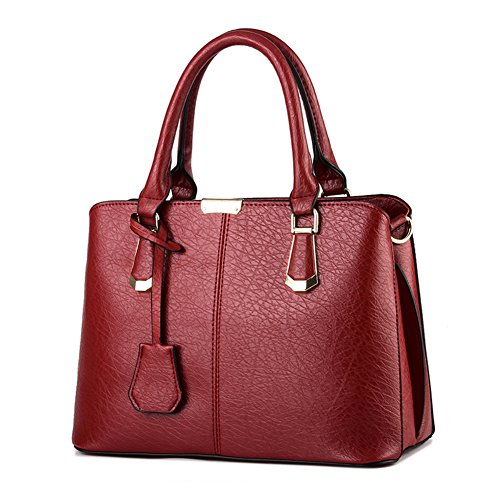 Borse a Mano Donna Borsa a Tracolla in Pelle PU Borsetta Shopper Pu Leather Handbag - LATH.PIN Rosa