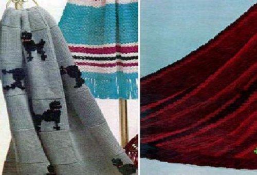 Gestrickte afghanischen Muster