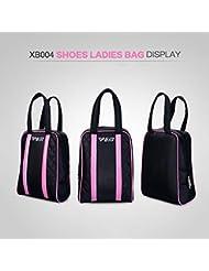 PGM - Bolsa de zapatos de golf de calidad - Nailon 4200d, capacidad: 10l, unisex, negro
