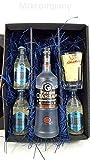 Russian Standard Vodka Lemon Set / Geschenkset – Russian Standard Vodka 70cl (40% Vol) + 3x Goldberg Bitter Lemon 200ml + Shakers Glas geeicht 4cl