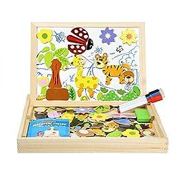 Innoo Tech Blocchi Costruzioni Magnetiche Puzzle di Legno per I Bambini Lasciate Che Il Vostro Bambino Imparare Colori e Forme Attraverso (100 Pezzi)
