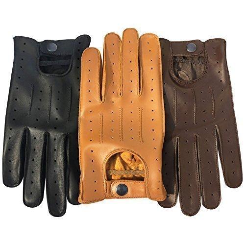 prime-leather-qualite-superieure-veritable-cuir-doux-hommes-gants-de-conduite-noir-brun-bronzage-jau